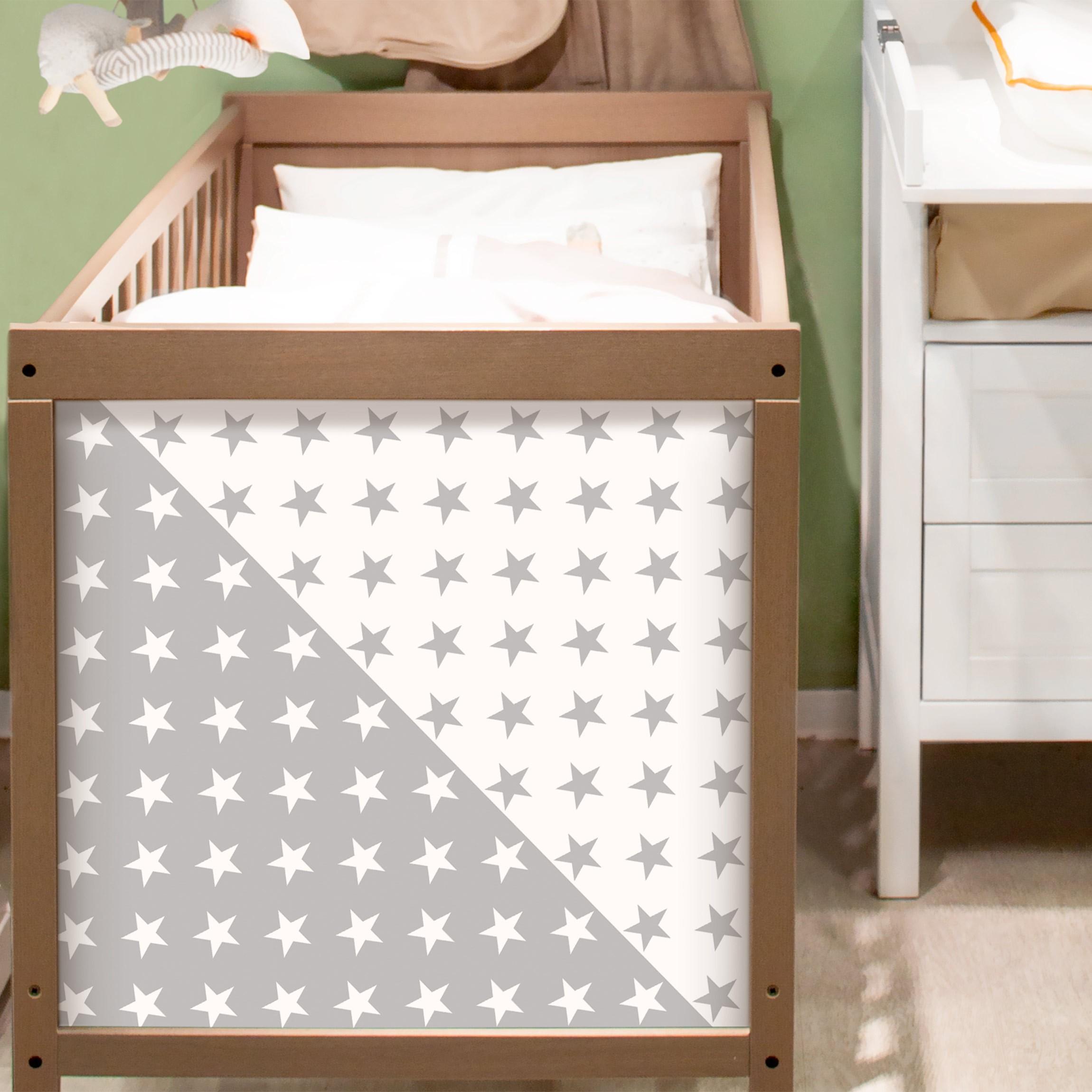 klebefolie sterne musterset in grau und wei dekofolie. Black Bedroom Furniture Sets. Home Design Ideas