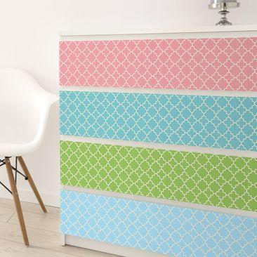 Produktfoto Möbelfolie Set - Marokko Mosaik Vierpassmuster in 4 Farben