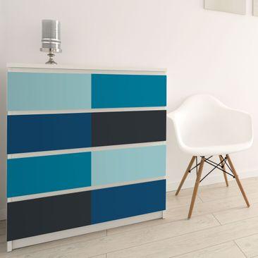 Immagine del prodotto Carta Adesiva per Mobili - Deep sea 4 colour set - Pastel turquoise petrol prussian blue moon grey