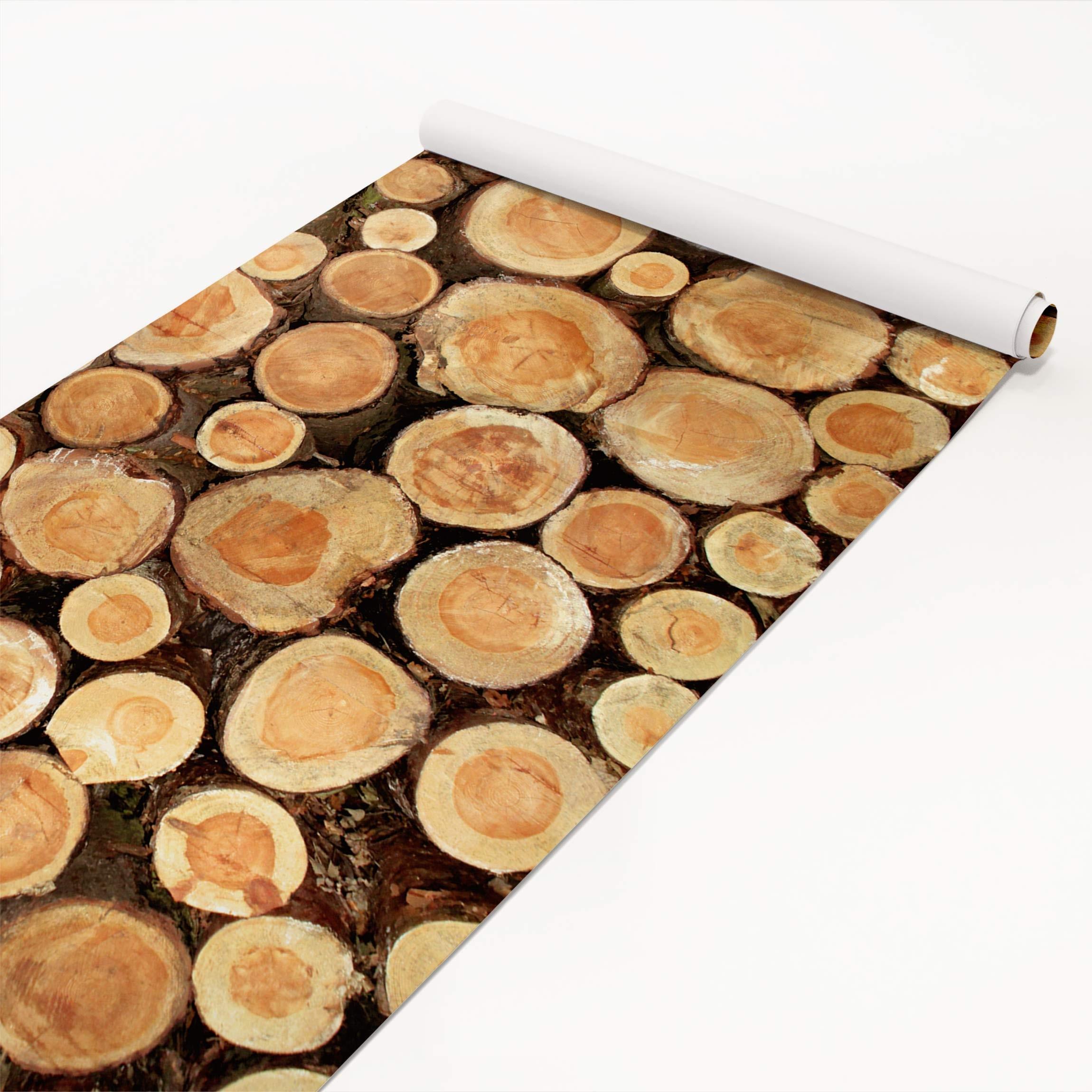 Mobelfolie Holz Baumstamme Holzklebefolie