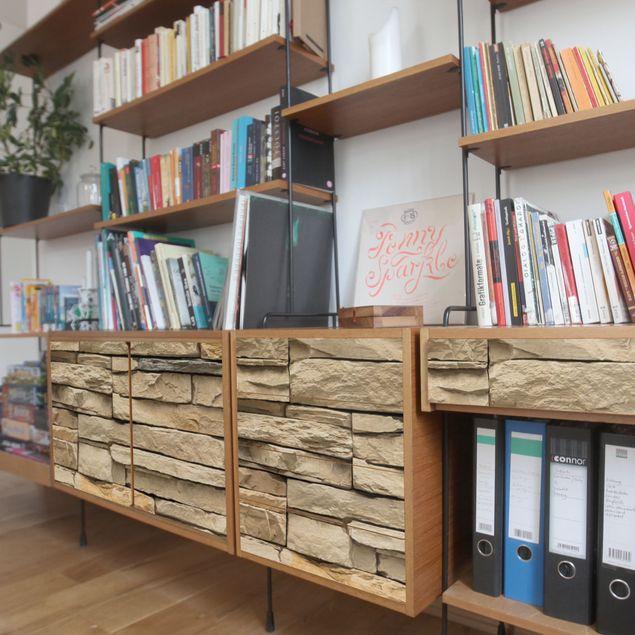 Produktfoto Möbelfolie - Andalusia Stonewall - Dekorfolie Steinoptik