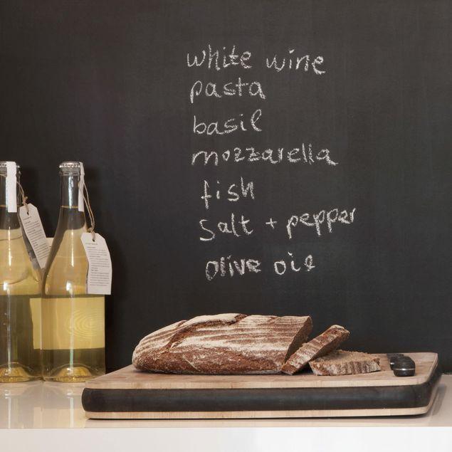 Produktfoto Selbstklebende Tafelfolie - Kreidetafel Küche - DIY Wandtafelfolie schwarz