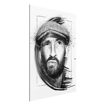 Produktfoto Aluminium Print - Wandbild Gentleman - Strassenkoeter - Viva con Agua - Hoch 4:3