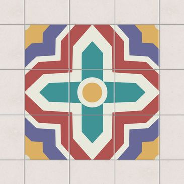 Product picture Tile Sticker Set - Moroccan tiles cross...