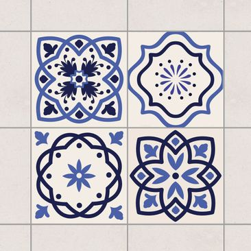 Product picture Tile Sticker Set - 4 Portuguese tiles...