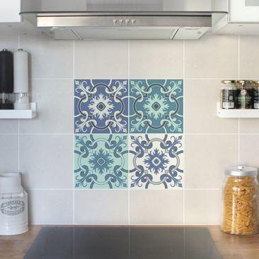 Product picture Tile Sticker Set - 4 Spanish tiles...