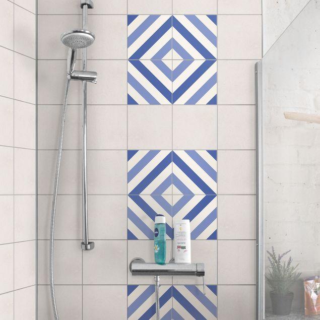 Produktfoto Fliesenaufkleber - Marokkanischer Fliesenspiegel aus 4 Fliesen 10cm x 10cm