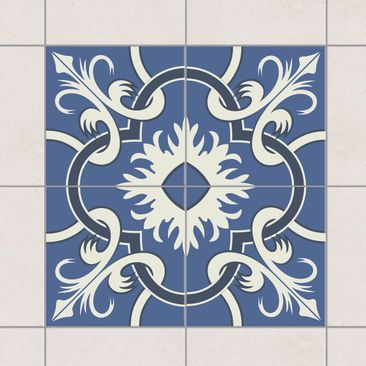 Immagine del prodotto Adesivo per piastrelle - Set - Spanish tiled backsplash from 4 tiles blue 10cm x 10cm