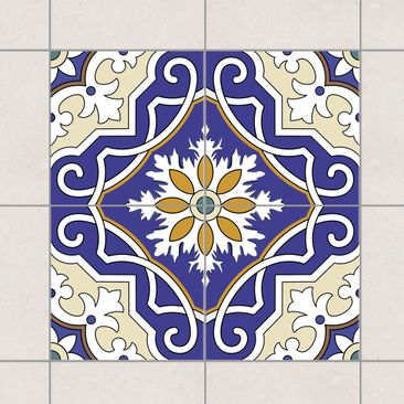 Immagine del prodotto Adesivo per piastrelle - Set - Ornament from 4 Spanish tiles 10cm x 10cm