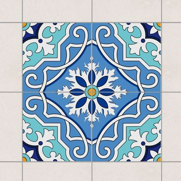Product picture Tile Sticker Set - Spanish tile pattern...