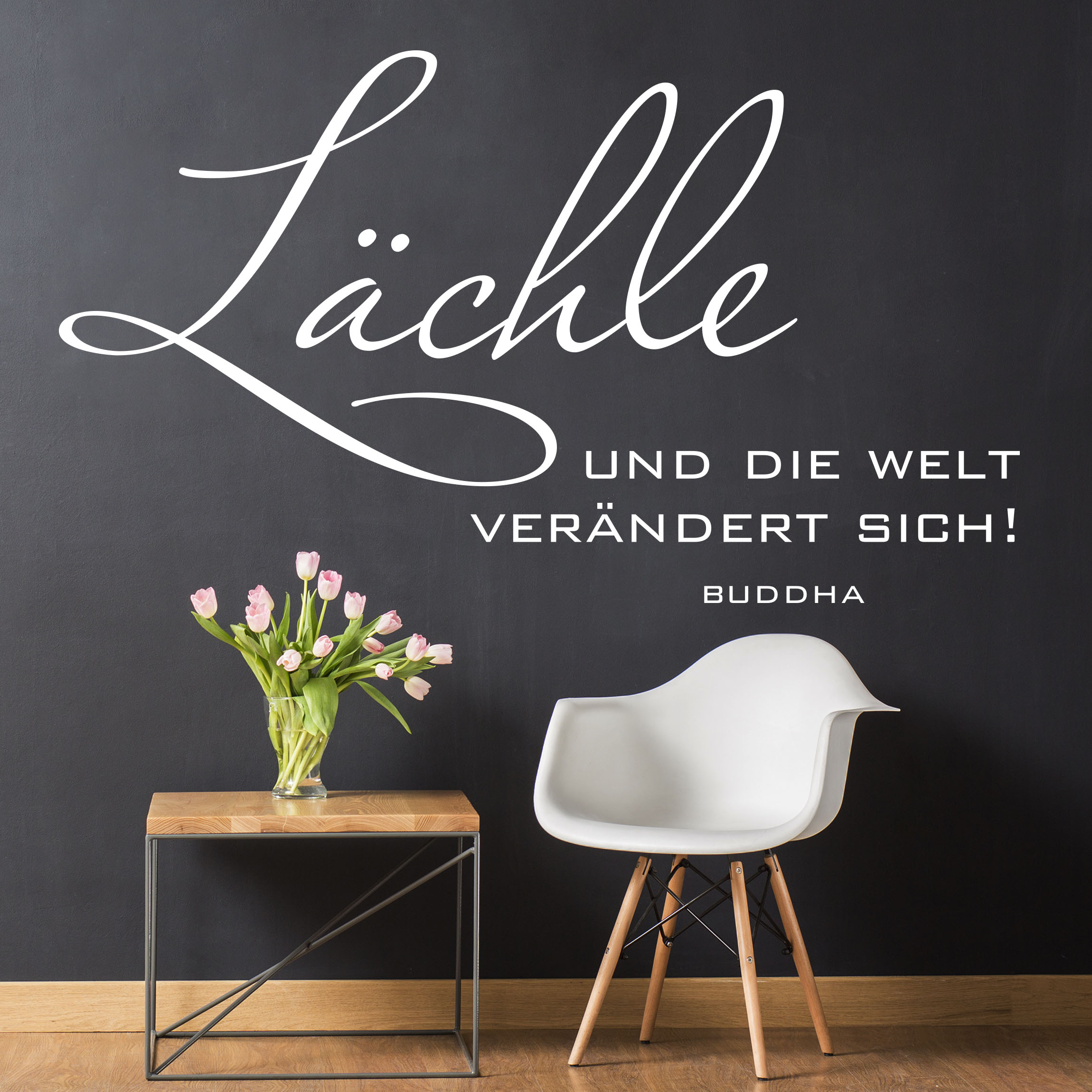 Wand Wohndesign: Wall Decal No.SF985 Smile