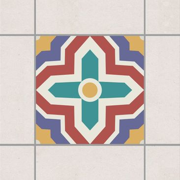 Product picture Tile Sticker - Moroccan tile crisscross...