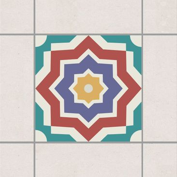 Product picture Tile Sticker - Moroccan tile star...