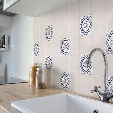 Product picture Tile Sticker - Mediterranean tile white...