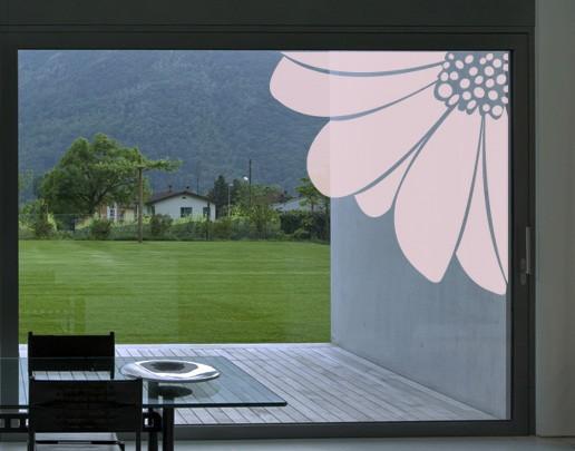 Produktfoto Fensterfolie - Fenstertattoo No.UL23 Blütenecke - Milchglasfolie