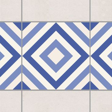 Product picture Tile Border - Moroccan tile karo blue...