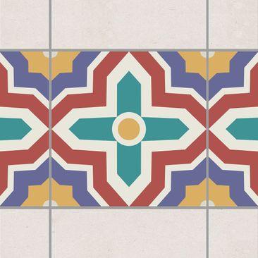 Product picture Tile Border - Moroccan tile crisscross...