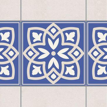 Product picture Tile Border - Portuguese tile with blue...
