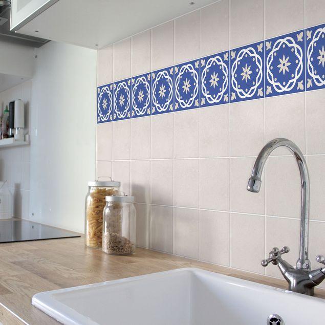 Produktfoto Fliesen Bordüre - Portugiesische Fliese blau 20cm x 20cm - Fliesenaufkleber