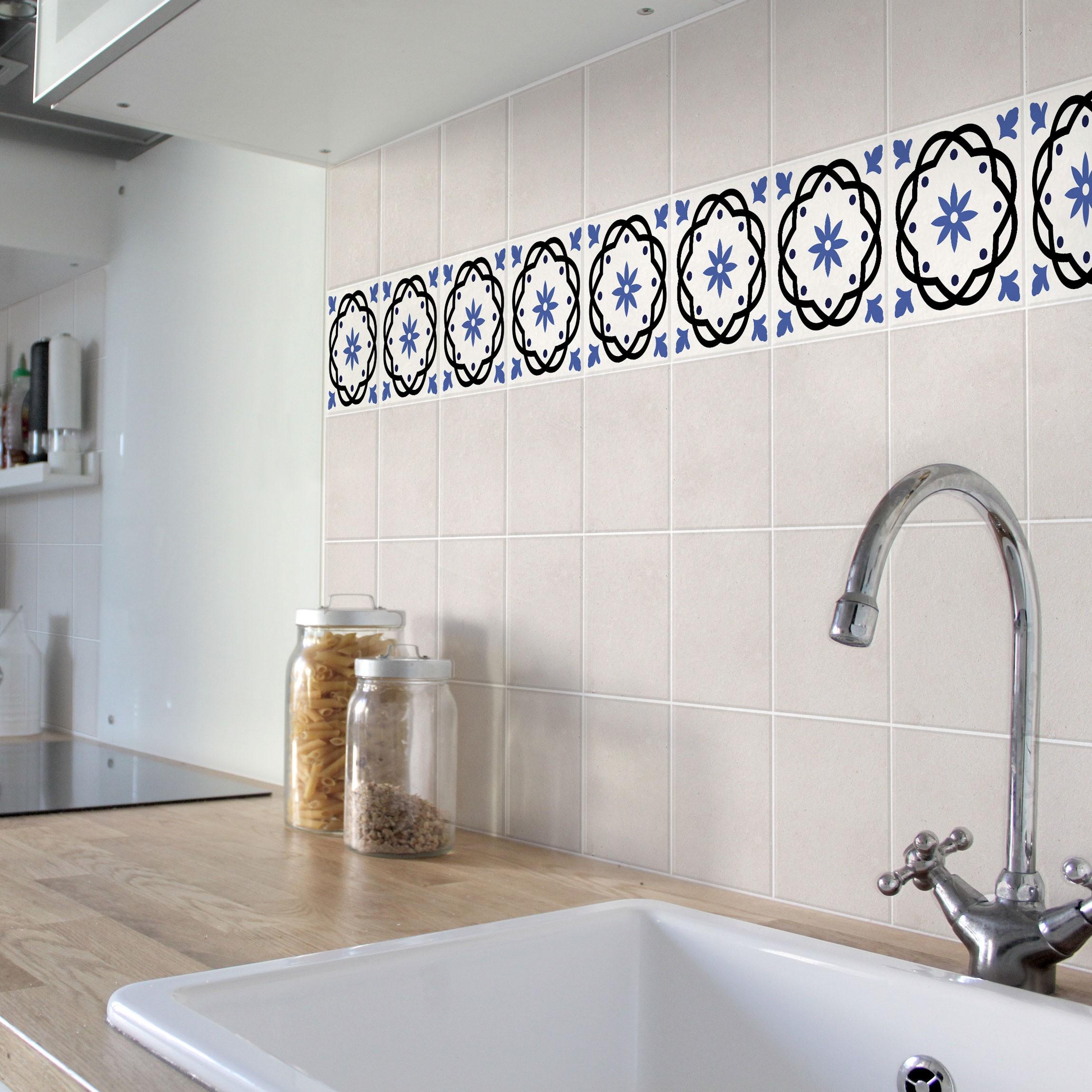 fliesen bord re portugiesische fliese cr me 20cm x 20cm fliesenaufkleber. Black Bedroom Furniture Sets. Home Design Ideas