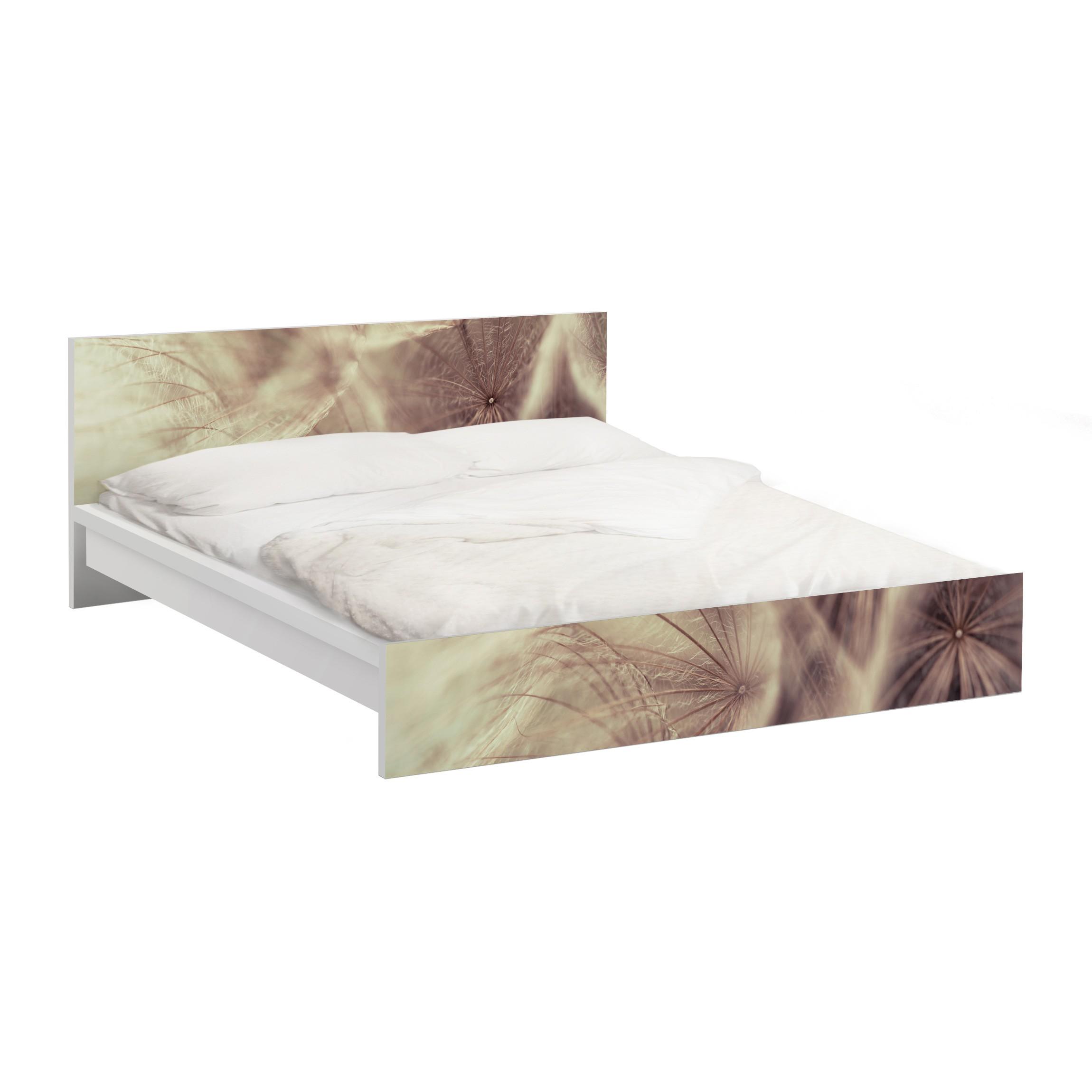 m belfolie f r ikea malm bett niedrig 180x200cm detailreiche pusteblumen makroaufnahme mit. Black Bedroom Furniture Sets. Home Design Ideas