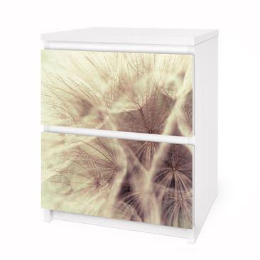 Immagine del prodotto Carta adesiva per mobili IKEA - Malm Cassettiera 2xCassetti - Detailed dandelions macro shot with vintage blur effect