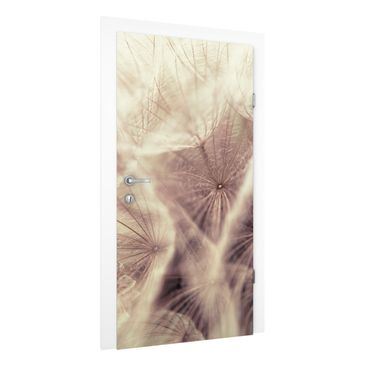 Immagine del prodotto Carta da parati per porte - Detailed dandelions macro shot with vintage blur effect - 215cm x 96cm