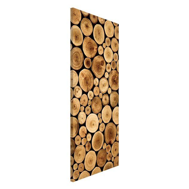Produktfoto Magnettafel - Homey Firewood - Memoboard Panorama Hoch
