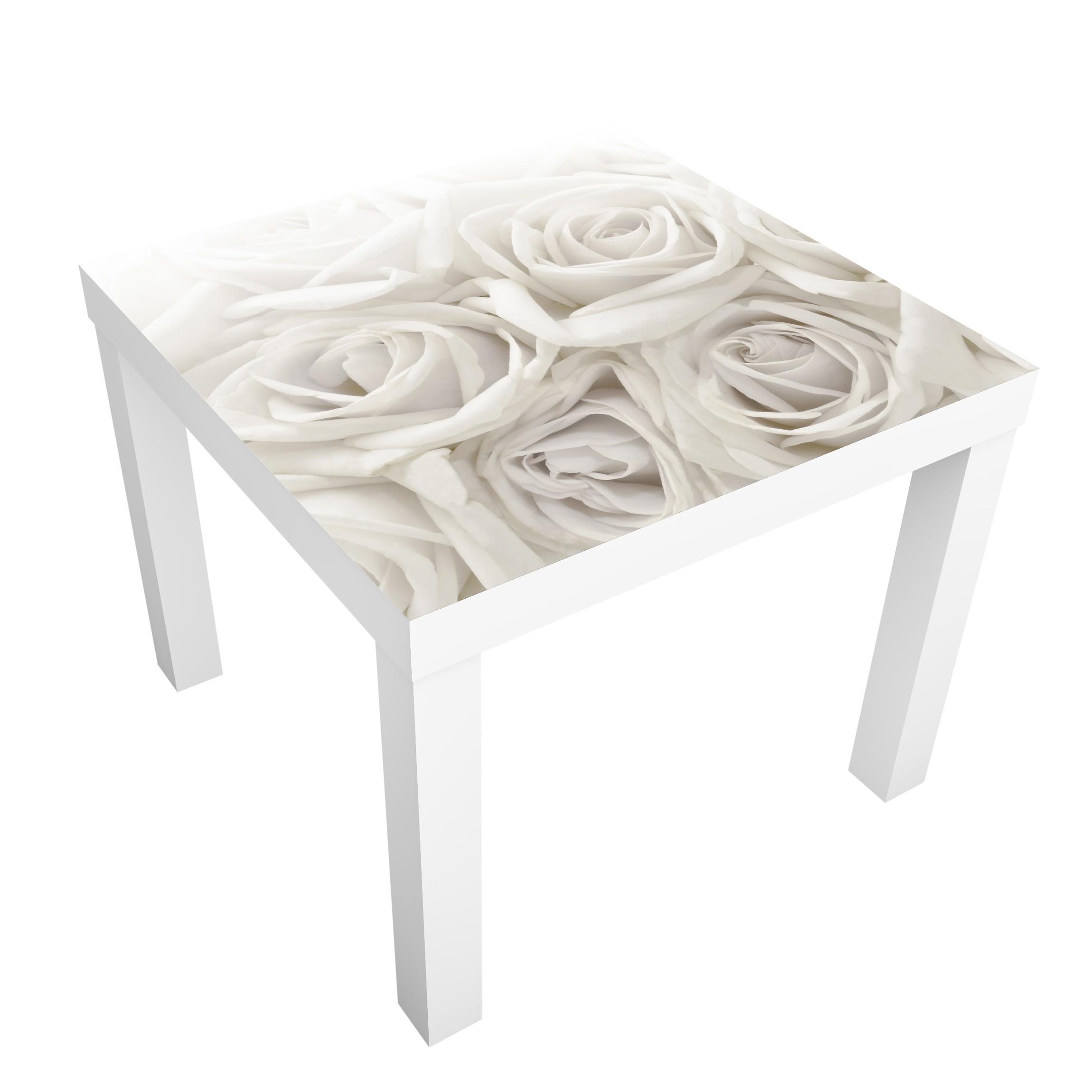 Carta Adesiva Per Mobili Ikea Lack Tavolino White Roses