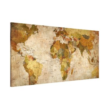 Product picture Magnetic Board - Map Of The World -...