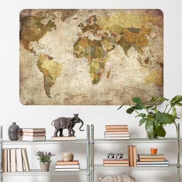 Produktfoto Selbstklebendes Wandbild Weltkarte