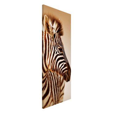 Produktfoto Magnettafel - Zebra Baby Portrait - Memoboard Panorama Hoch