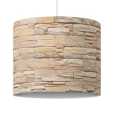 Immagine del prodotto Lampadario design Asian Stonewall - Large brigth stone wall of cosy stones