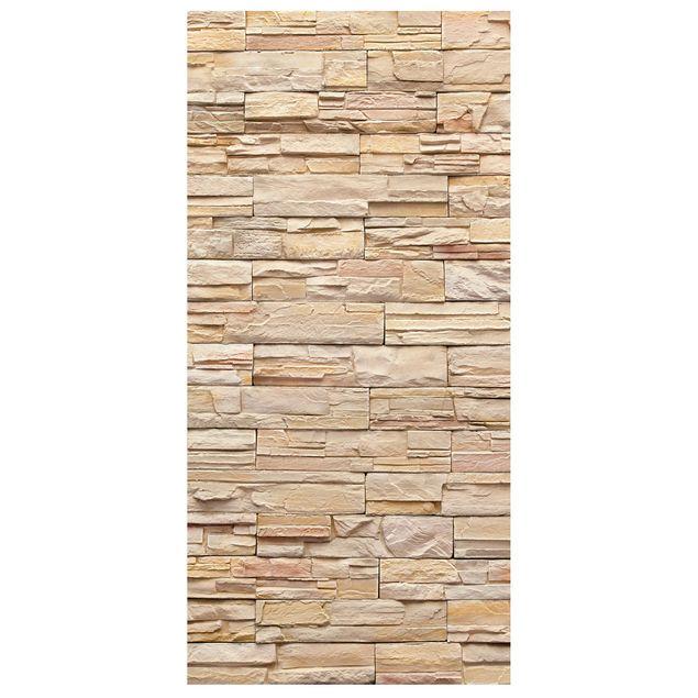 Produktfoto Raumteiler - Asian Stonewall - Große helle Steinmauer aus wohnlichen Steinen 250x120cm