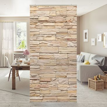 Immagine del prodotto Tenda a pannello Asian Stonewall - Large brigth stone wall of cosy stones 250x120cm