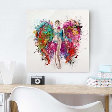 Product picture Print on Glass - Winged thoughts - Glass...