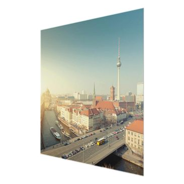Product picture Print on Glass - Berlin morning - Glass...
