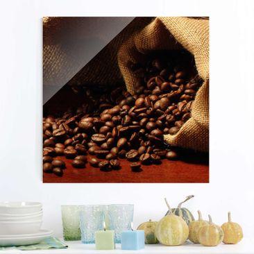 Produktfoto Glasbild Küche - Dulcet Coffee - Quadrat 1:1