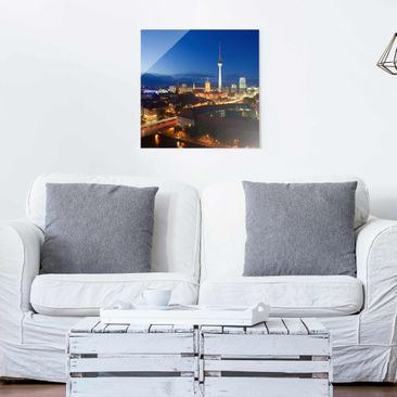 Product picture Print on Glass Berlin - TV tower at...