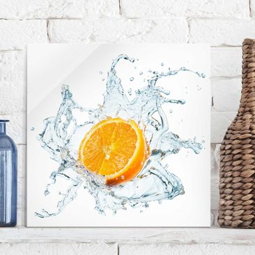 Product picture Print on Glass - Fresh orange - Glass...