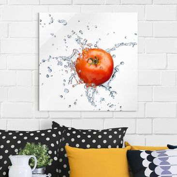 Product picture Print on Glass - Fresh tomato - Glass...