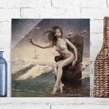 Product picture Print on Glass - In the surf - Glass...