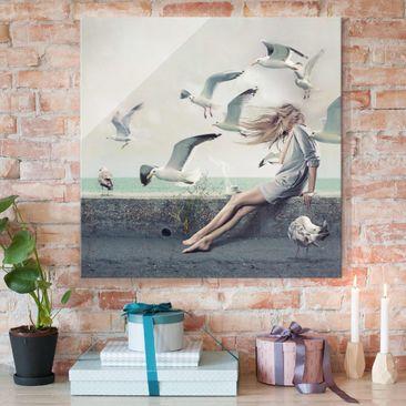 Immagine del prodotto Stampa su vetro - Coffee by the sea - Quadrato 1:1