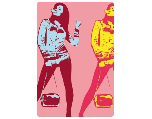 Produktfoto Selbstklebendes Wandbild No.TA26 Chewing Gum Girl