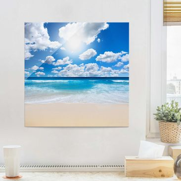 Produktfoto Glasbild - Touch of paradise - Quadrat 1:1