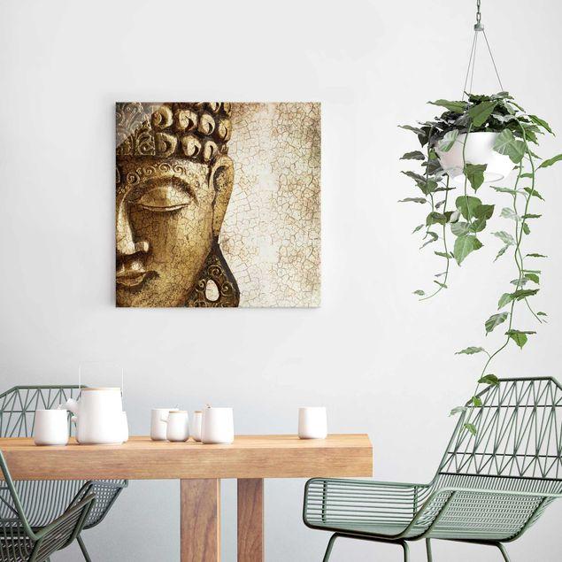 Immagine del prodotto Stampa su vetro - Vintage Buddha - Quadrato 1:1