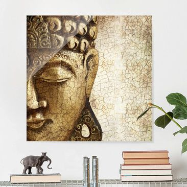 Product picture Print on Glass - Vintage Buddha - Glass...
