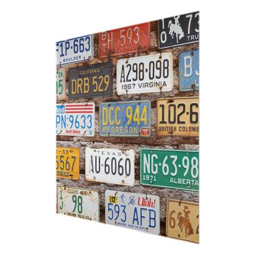 Product picture Print on Glass - American license plates...