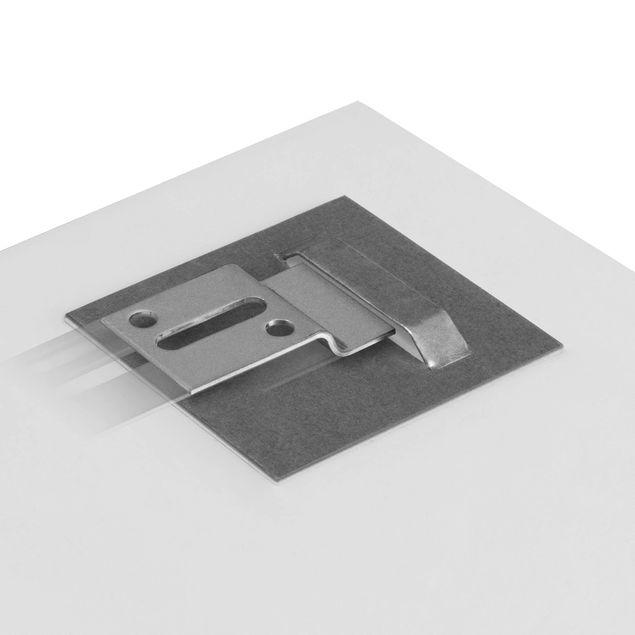 Produktfoto Glasbild - Mammutbaum Baumkronen - Quadrat 1:1 - Waldbild Glas