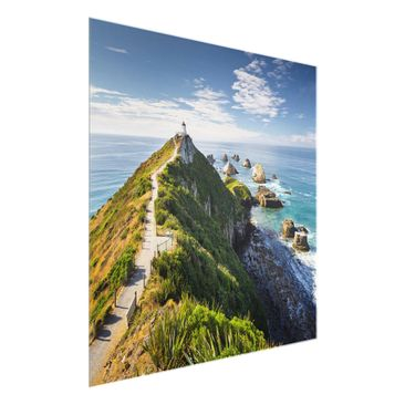 Product picture Print on Glass - Nugget Point Lighthouse...